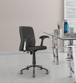 Ergonomic Low Back Chair in Black Colour