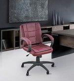 Ergonomic Low Back Office Chair in Brown Colour
