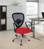 Ergonomic Low Back Office Chair in Red Colour