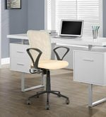 Ergonomic Mid Back Chair in Beige Colour