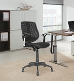 Ergonomic Mid Back Chair in Black Colour