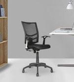 Ergonomic Mid Back Chair in Black Colour