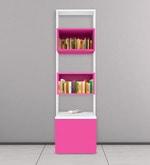 Erika Book Shelf - II in Pink & White Colour