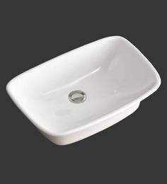 Eros Table Top White Ceramic Wash Basin (Model: Saga-TT)