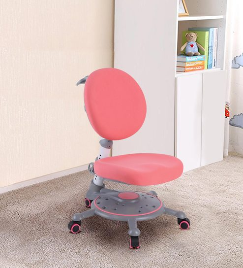 Buy Ergonomic Chair With Adjustable Seating And Backrest In Pink