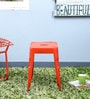 Erco Iron Stool in Orange Colour by Bohemiana