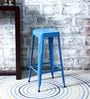 Erco Metal Bar Stool in Light Blue Color by Bohemiana