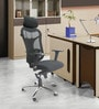 Ergonomic High Back Chair in Black Colour by ChromeCraft