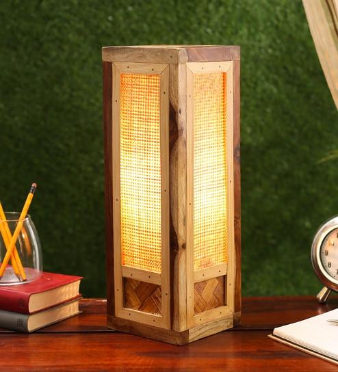 Buy estelle wooden brown bamboo table lamp by kraftinn online estelle wooden brown bamboo table lamp by kraftinn aloadofball Images