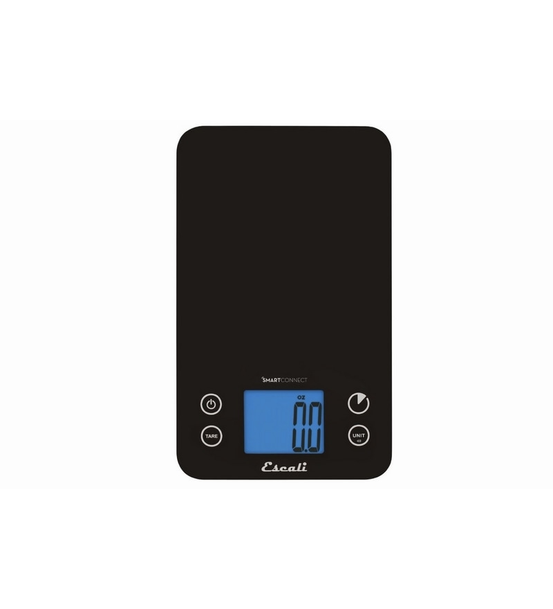Escali Smart Connect Kitchen Black Glass Kitchen Scale