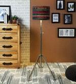 Black Cotton Floor Lamp