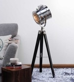 Nickel Finish Tripod Floor Lamp