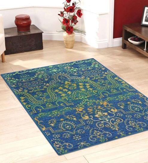 Ethnic Nylon 7x5 Feet Machine Made Carpet By Status