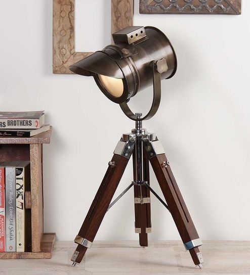 Buy antique finish tripod table lamp by ethnic roots online antique finish tripod table lamp by ethnic roots mozeypictures Gallery