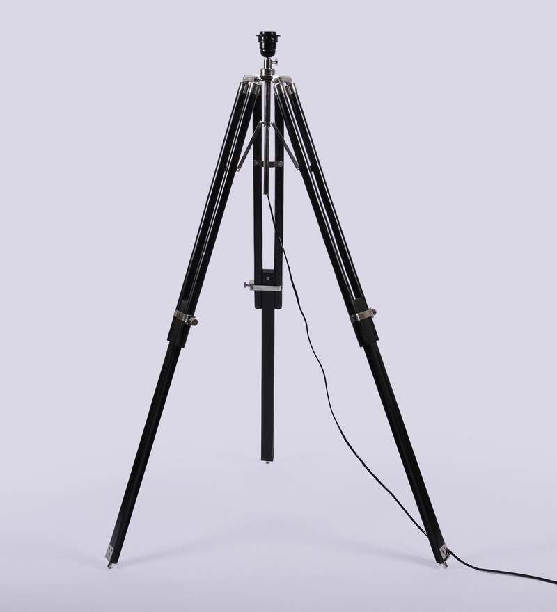 Mango Wood Tripod Lamp Base by Ethnic Roots