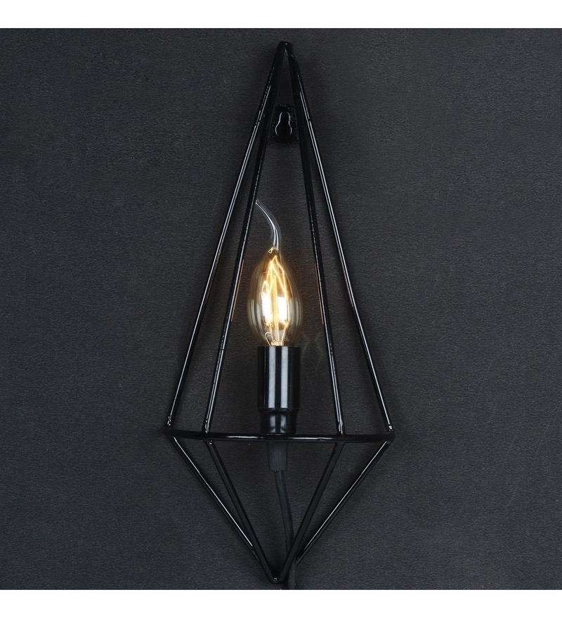 Black Iron Wall Light by Tezerac