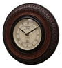 Brown MDF & Metal 10 Inch Round Wall Clock by Ethnic Clock Makers