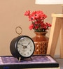 Brown Metal & MDF 3 x 1.5 x 3 Inch Table Clock by Ethnic Clock Makers