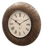 Ethnic Clock Makers Gold MDF & Metal 16 Inch Round Polish Handmade Wall Clock