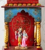 Multicolour Solid Wood Hand Painted Jodhpuri Temple by Ethnic Clock Makers