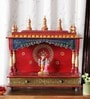 Ethnic Clock Makers Multicolour Solid Wood Hand Painted Jodhpuri Temple
