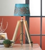 Blue Cotton Table Lamp by Ethnic Roots