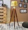 Ethnic Roots Green Cotton Floor Lamp