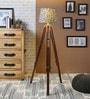Ethnic Roots Grey Cotton Floor Lamp