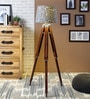 Grey Cotton Floor Lamp by Ethnic Roots
