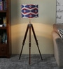 Red & Blue Cotton Floor Lamp by Ethnic Roots