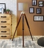 White & Black Cotton Floor Lamp by Ethnic Roots