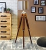 White & Black Cotton Tripod Floor Lamp by Ethnic Roots