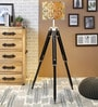 Yellow & Green Cotton Floor Lamp by Ethnic Roots