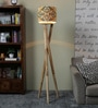 Ethnic Roots Yellow & Green Cotton Floor Lamp