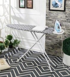 Eurostar Flower Mild Steel Black Foldable King Ironing Board