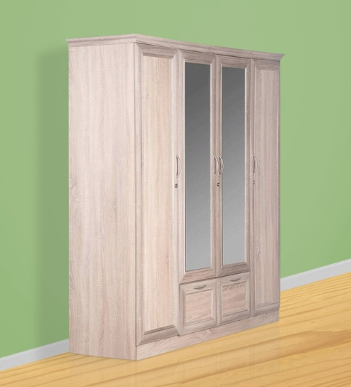 Godrej Kitchen Accessories: Buy Eudora N15 Four Door Wardrobe With Mirror In Sonoma