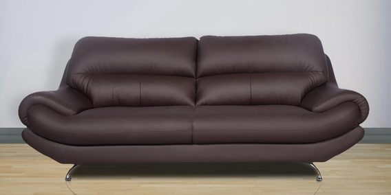 Euro Pro Three Seater In Coffee Brown Finish By Rej Interio