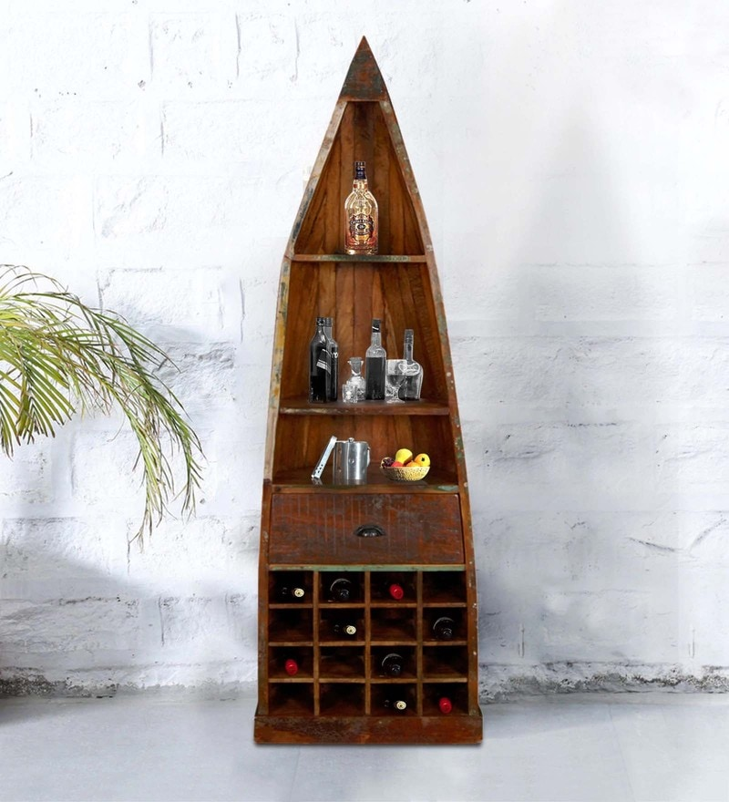 Eugene Wine Rack in Distress Finish by Bohemiana