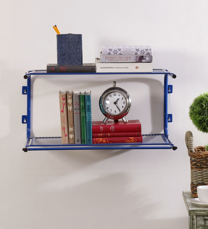 Eurostar Mild Steel Blue Wall Mounted Multi Utility Rack