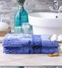 Eurospa Marvel Blue Cotton Bath Towel - Set of 2