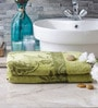 Eurospa Marvel Green Cotton Bath Towel - Set of 2