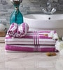 Eurospa Velour Purple Cotton Towel Sets - Set of 4