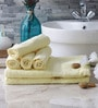 Eurospa Yellow Cotton Towel Sets - Set of 6