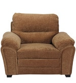 Evok One Seater Sofa in Brown Colour