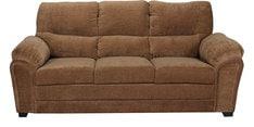 Evok Three Seater Sofa in Brown Colour