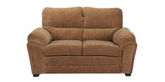 Evok Two Seater Sofa in Brown Colour