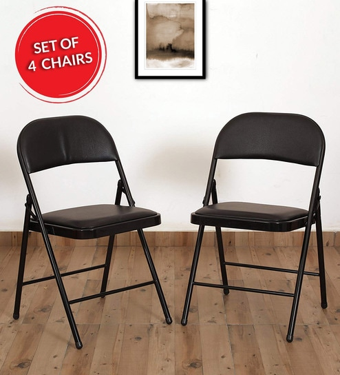 Pictures On Folding Chairs Set Of 4 Natural