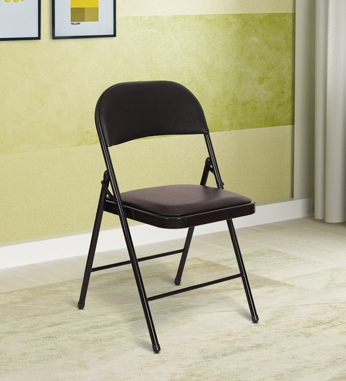 Excellent Eva Metal Folding Chair In Black Colour By Eros Andrewgaddart Wooden Chair Designs For Living Room Andrewgaddartcom
