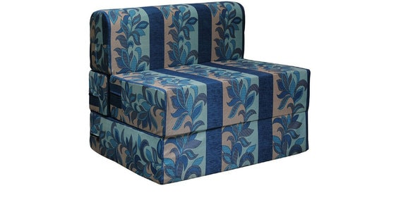 Everlasting Series 3 Feet Sofa Bed In Blue Colour By Rvf