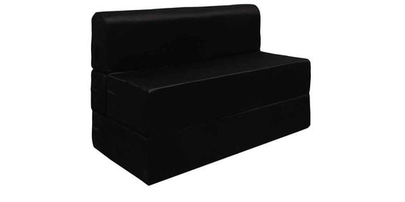 Everlasting Series 3 Feet Cly Sofa Bed In Black Colour By Rvf